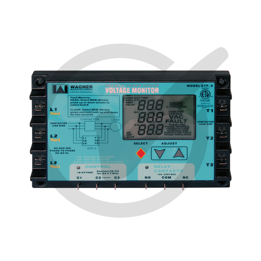 Phase Loss Monitor : Digital three phase line voltage monitor everwell parts inc